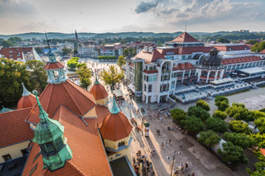 Sopot,Poland-September 7,2016:View of the Sopot City in Poland