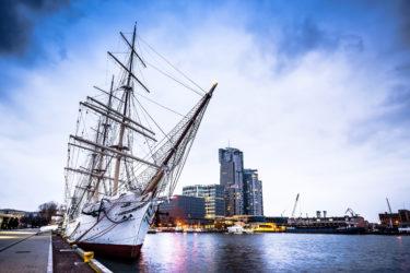 Dar Pomorza famous polish ship docked in Gdynia
