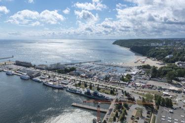 Aerial  view of Gdynia harbor, Poland