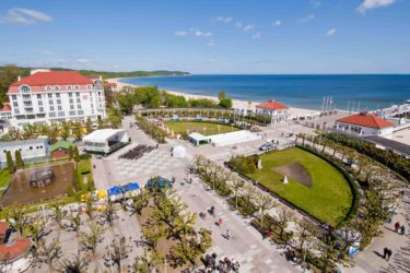 view of spa resort at the seaside, Sopot, Poland