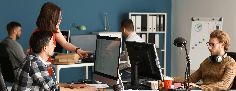 praca w biurze, specjaliści IT, BSS