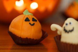 halloween babeczka dekoracja dynia