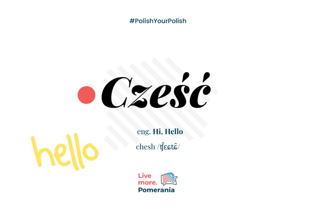 Czesc- Hello!